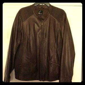 Lane Bryant Womens Faux Leather Jacket